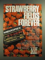 1984 Memorex High Bias II Cassette Tape Ad - Strawberry Fields Forever