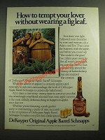 1985 DeKuyper Original Apple Barrel Schnapps Ad - Tempt Your Lover
