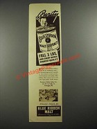 1937 Pabst Blue Ribbon Malt Ad - Purity