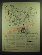1958 Hennessy V.S.O.P. Brandy Ad - These Famous Letters