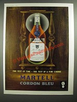 1959 Martell Cordon Bleu Cognac Ad - art by John Bainbridge