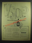 1959 Hennessy V.S.O.P. Brandy Ad - These Famous Letters