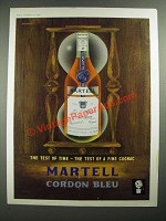 1960 Martell Cordon Bleu Cognac Ad - art by John Bainbridge