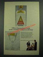 1966 Gilbey's Gin Ad - Famous Frosty Bottle