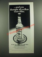 1970 Gordon's Vodka Ad - You Thought All Vodkas Were Alike