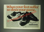 1970 Weinbrenner Mulligans Shoes Ad - When Your Feet Suffer So Does Your Game