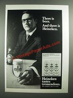 1971 Heineken Beer Ad - There is Beer. And There is Heineken