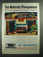 1971 Motorola Changeabout Car Stereo TM718S Ad