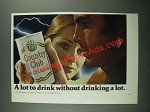 1971 Country Club Malt Liquor Ad - A Lot to Drink