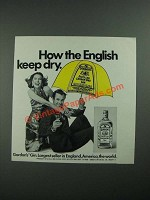 1973 Gordon's Gin Ad - How The English Keep Dry