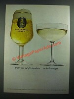 1974 Lowenbrau Beer Ad - If They Run Out of Lowenbrau Order Champagne