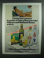 1976 Gilbey's Gin, Vodka and Holland House Cocktail mixes ad