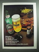 1976 Heineken Beer Ad - in German