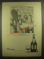 1978 Bisquit Cognac Ad - cartoon by H.M. Bateman - The Diner