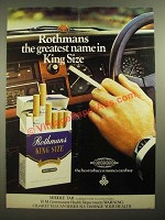 1978 Rothmans King Size Cigarettes Ad - The Greatest
