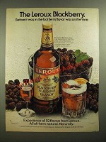 1978 Leroux Blackberry Flavored Brandy Ad - On the Vine