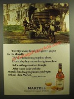 1978 Martell Cognac Ad - For 78 Years My Family Has Grown Grapes