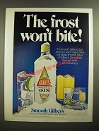 1978 Gilbey's Gin Ad - The Frost Won't Bite