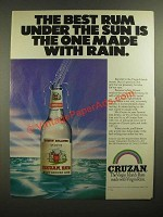 1978 Cruzan Rum Ad - The One Made With Rain