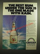 1979 Cruzan Rum Ad - The Best Rum Under the Sun