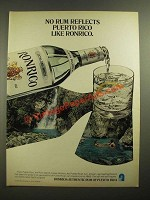 1979 Ronrico Rum Ad - No Rum Reflects Puerto Rico Like