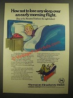 1979 Sheraton-Heathrow Hotel Ad - Not to Lose Any Sleep