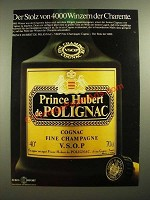 1979 Prince Hubert de Polignac Cognac Ad - in German