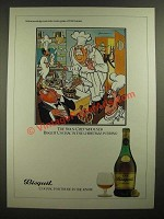 1979 Bisquit Cognac Ad - cartoon by H.M. Bateman - The Sous-Chef