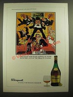 1979 Bisquit Cognac Ad - cartoon by H.M. Bateman - The Guest
