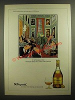 1979 Bisquit Cognac Ad - cartoon by H.M. Bateman - The Member