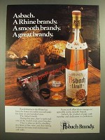 1979 Asbach Brandy Ad - A Smooth Brandy