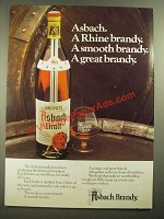 1979 Asbach Brandy Ad - A Great Brandy