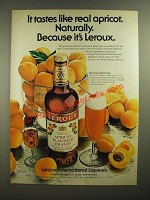 1979 Leroux Apricot Flavored Brandy Ad - Tastes Like Real Apricot