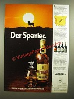 1979 Osborne Veterano Brandy Ad - in German - Der Spanier