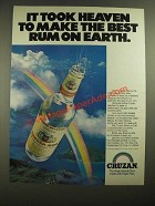 1980 Cruzan Rum Ad - It Took Heaven to Make the Best Rum on Earth