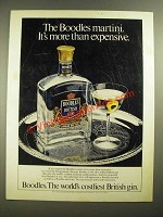 1980 Boodles British Gin Ad - It's More Than Expensive