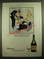 1980 Bisquit Cognac Ad - cartoon by H.M. Bateman - The Guest