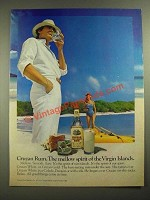 1981 Cruzan Rum Ad - The Mellow Spirit of the Virgin Islands