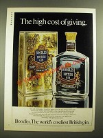 1981 Boodles Gin Ad - The High Cost of Giving