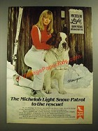 1981 Michelob Light Beer Ad - Monique & Suds