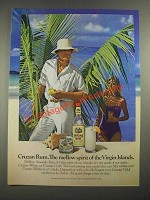 1982 Cruzan Rum Ad - The Mellow Spirit of the Virgin Islands
