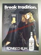 1982 Ronrico Rum Ad - Break Tradition