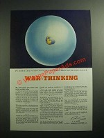 1943 American Airlines Ad - War-Thinking