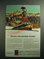 1945 GM Diesel Locomotives Ad - Writing New Railroad History