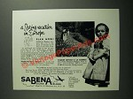 1953 Sabena Belgian Airlines Ad - A Spring Vacation in Europe
