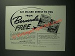 1953 Bermuda Trade Development Board Ad - Air Mailed Direct to You