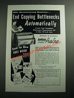 1954 Apeco Systematic Auto-Stat Ad - End Copying Bottlenecks