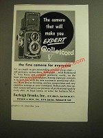 1955 Rolleicord V Camera Ad - Make You Expert