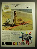 1959 Ilford Sportsman Camera and Colour Film Ad - Summer Days