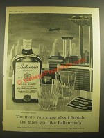 1959 Ballantine's Scotch Ad - The More You Know